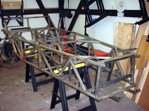Unpainted chassis